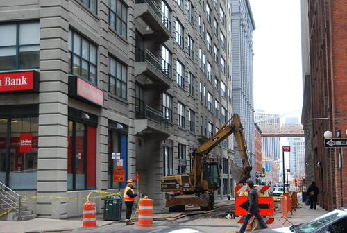 Water Street construction