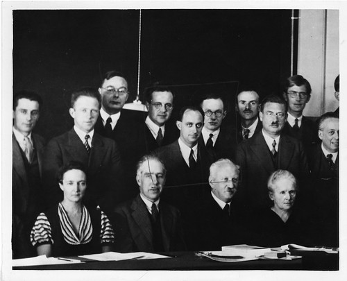 Physicists at the Seventh Solvay Physics Conference, Brussels, Belgium, October 1933, by Science Service, Black-and-white photograph, Smithsonian Institution Archives, Acc. 90-105 - Science Service, Records, 1920s-1970s, SIA Acc. 90-105 (SIA2008-0577).