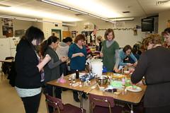 Cupcake Class (cakezilla) Tags: spring class cupcake decorating fondant ganche