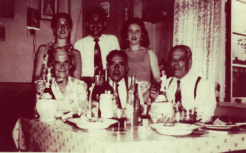 Nicolletti Family Dinner, 1950s.