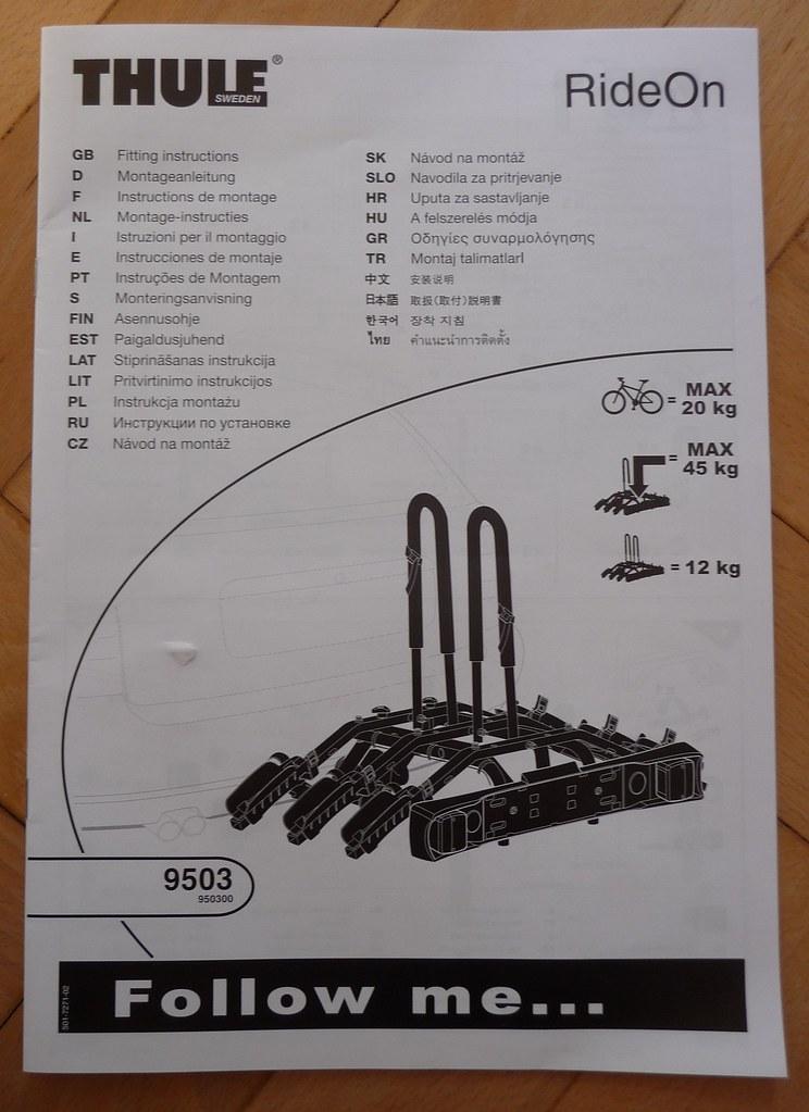 Thurle 9503 RideOn 3-Bike Towball Rack