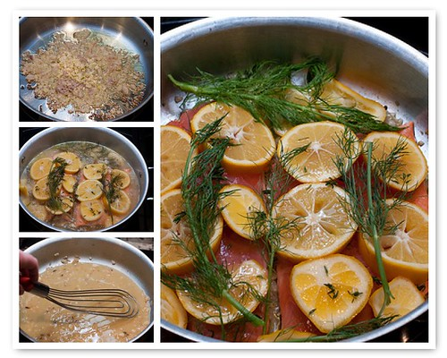 Making Salmon in a Meyer Lemon Wine Broth