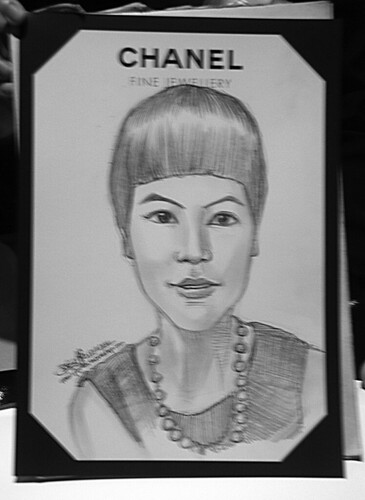 Portrait live sketching for Chanel Fine Jewellery Exhibition Day 3 - 6