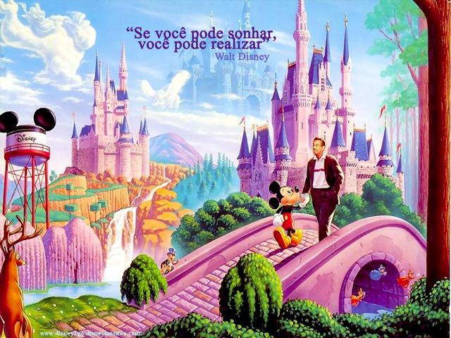 Criador e Criatura: Pintura de Mickey e Walt Disney no mundo encantado da Disney
