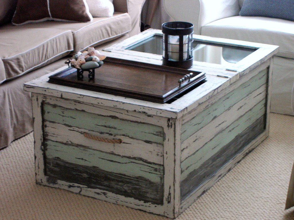 Beach Cottage trunk coffee table