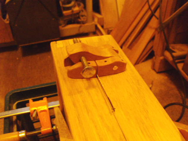 Second half of latch glued in place