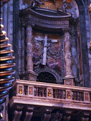 Spiral Columns reused from Old St. Peter's and by tradition originally from Solomon's Temple