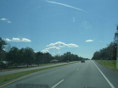 fluffy floridan clouds.