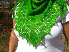 Wandering the moor shawl (reeniebeanie) Tags: green lace shawl wasabi shawls wollmeise wanderingthemoor