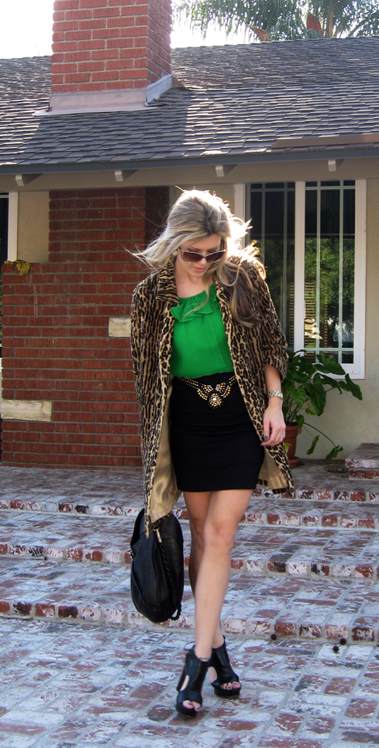 st patricks day green outfit leopard coat-9