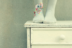 Keep Standing tall (Reem eng) Tags: wood white me socks vintage silver table stand drawer headband repainted itsnotperfect ilovevintage iwasjusttoolazytodoitallover