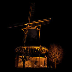 Windmill by night (Ruud Hilgeman) Tags: holland windmill night canon tripod 1785mm woerden 450d