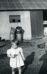 Image titled Sandra Gibson in small holding Bartiebeith Road 1960