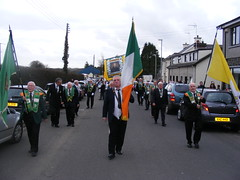AOH Colour Party and National Board at the St. Patricks Day Parade in Kilrea County Derry Ireland (sean and nina) Tags: ireland irish men green saint st religious march ancient women day catholic order erin candid board patrick flags eire parade na bands marching procession patricks banners nationalist northern ord 17th arsa 2010 ulster aoh hibernians eireann divisions heireann collarettes