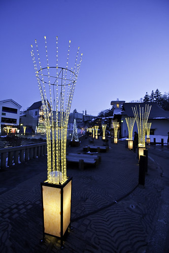 Illumination Installation of Yubatake, Kusatsu, Japan 草津溫泉湯畑節慶燈光裝置