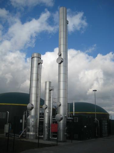 Diese Anlage in Darmstadt-Wixhausen bereitet Biogas zu Biomethan auf.