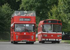 National Standards (ƒliçkrwåy) Tags: bus bristol nbc vrt rally national alton leyland opentop ecw easterncoachworks aldervalley poppyred hantsanddorset ufx858s kcg627l