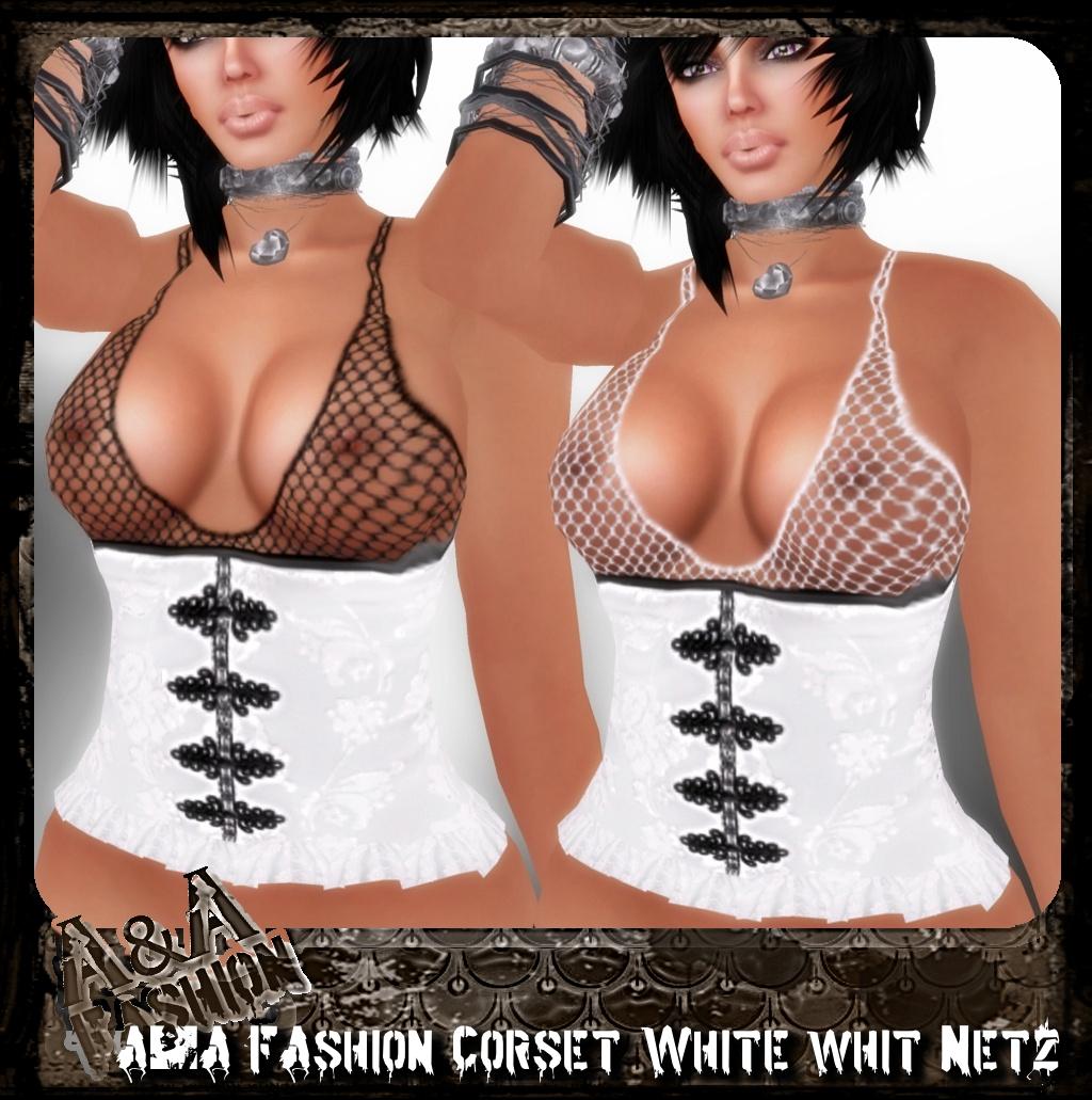A&A FAshion Corset whit Netz white