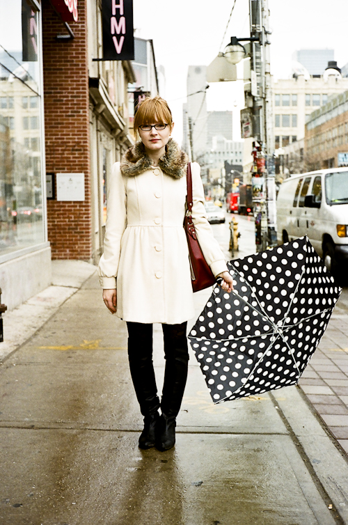 Polka Dot Umbrella, Toronto Street Fashion @ Queen St. W., Toronto