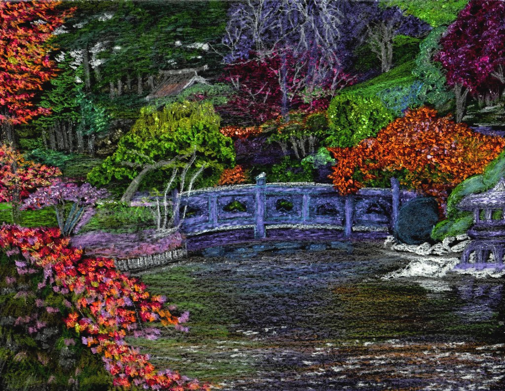 japanese garden traqair57 tags bridge flowers plants art nature water colors garden japanese