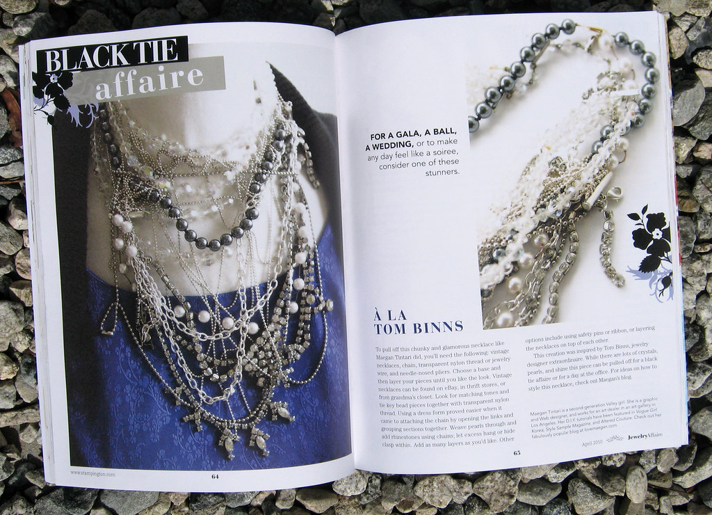 Jewelry Affaire Spring 2010 Tom Binns Necklace DIY