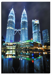 Petronas Twin Tower (Nora Carol) Tags: reflection building architecture nightshot malaysia kualalumpur shining klcc petronastwintower malaysianphotographer noracarol sabahanphotographer landscapephotographerfromsabah womanlandscapephotographer womaninphotography lpshiny