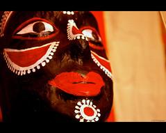 Face Of Darkness (Opticonfusion) Tags: art beauty darkness mask culture evil chennai ecr southindia dakshin dakshinchitra exhibhition