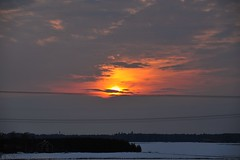March Sunset (nikkorglass) Tags: sunset mars snow clouds march spring nikon sweden sverige nikkor sn 70200 f28 vr 2010 solnedgng moln nikkorglass d700