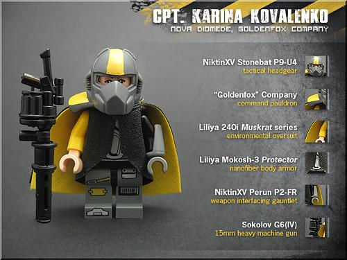 Cpt. Karina Kovalenko (Goldenfox Company)