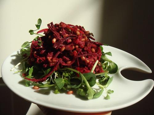 CSA Winter 6&7: Beets & Carrots Wheat Berries Salad