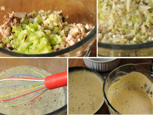 Broccoli-Rice Casserole--cream sauce storyboard
