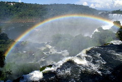 Rainbow at Iguazu Falls