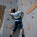 Students climb during the free climb Sunday evening.