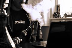 Apr.01.2010 Some sort of .. Blue Mist (Sharif Sharifi) Tags: bw white black blur sepia project dof shisha bokeh smoke pipe days hose smoking 365 tobacco hookah hooka bluemist 3652010
