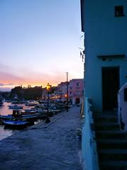Electric Blue (Pino Pinto) Tags: sunset sea italy scale stairs boats italia tramonto mare campania dusk barche napoli naples procida hdr
