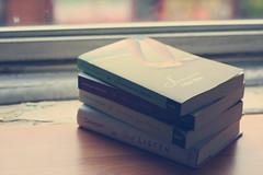 Sarah Dessen {explored!} (dimplyemily) Tags: light window books sarahdessen someonelikeyou thetruthaboutforever justlisten thislullaby