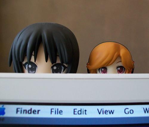Mio & Meiko Staring....