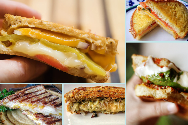 grilled cheese collage 1