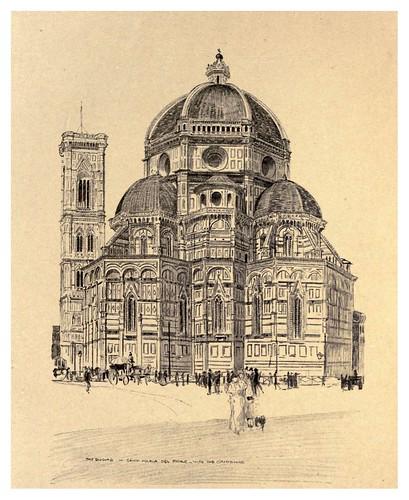 002-El Duomo-Santa Maria del Fiore y el Campanile-Florence  a sketch book (1914)- Richards Fred