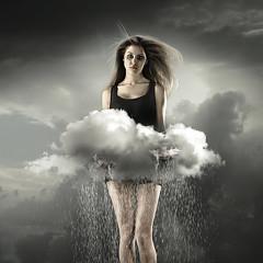 """How its made"" Rain (Csheemoney) Tags: lighting light cloud storm girl rain clouds studio shower holding tears alone sad wind crying lonely belgrade retouch beograd downpour cumulonimbus nemanja pesic nostrobistinfo cshee csheemoney removedfromstrobistpool seerule2"