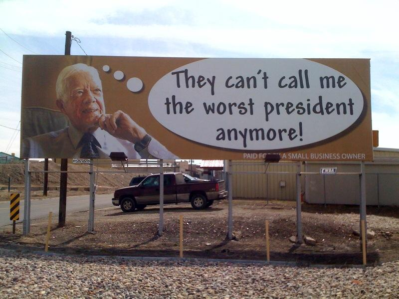jimmy carter billboard