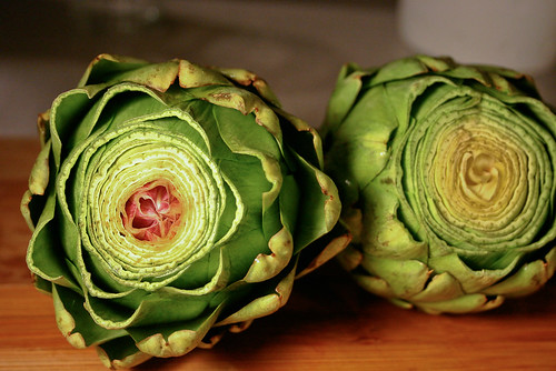 preparing artichokes
