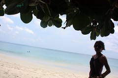 Kanu , The leaves and Bay of Bengal (keedap) Tags: india beach asia honeymoon deepak deep x virgin kanu havelock andaman sharma keerti besr radhanagar