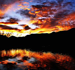 Light Pool (Ph0tomas) Tags: sunset sky lake storm newmexico reflection water clouds reflections landscape pond 1001nights socorro flickraward