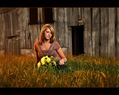Tiara ~ Senior Golden Barn (~Phamster~) Tags: cactus sun senior barn canon alienbees 85l strobist