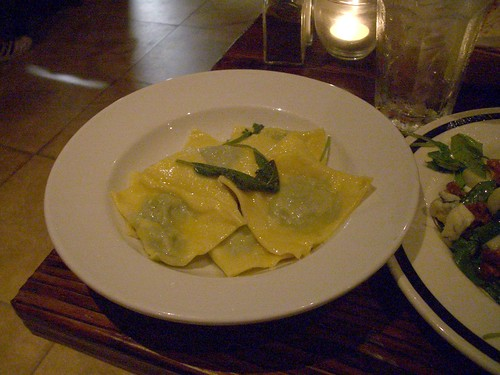 Osteria Mamma Ravioli with spinach and ricotta