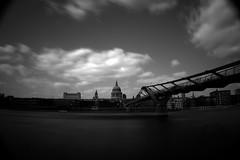 """St Pauls from the Thames"" (9pike) Tags: london thames sigma nd stpaulscathedral dp1 iso50 digitalholga londonmillenniumfootbridge neutraldensityfilter1000x"