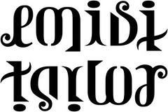 """""""emisi"""" & """"taylor"""" Ambigram"""
