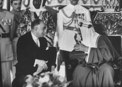 Saud Ibn Abdul Aziz [RF: Saudi Arabia RF];Nuri As Said (K_Saud) Tags: king being iraq east saudi arabia said middle foreign nuri abdul rf aziz ibn relations welcomed saud timeincown 935426