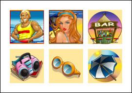 free Life's a Beach slot game symbols